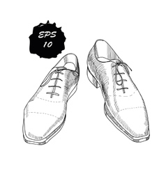 Hand drawn graphic classic shoes vector