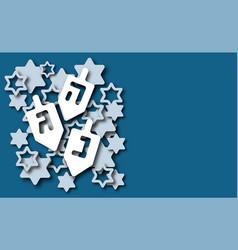 hanukkah background paper cut design vector image