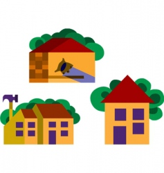Houses and homes vector