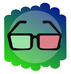 icon 3d glasses the sign of the cinema vector image