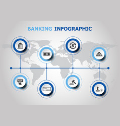 infographic design with banking icons vector image