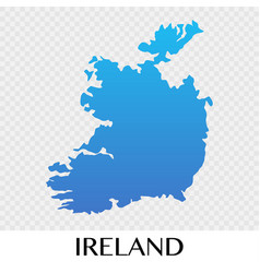 Ireland map in europe continent design vector