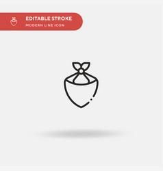Kerchief simple icon symbol vector