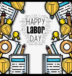 Labor day celebration and patriotism holiday vector