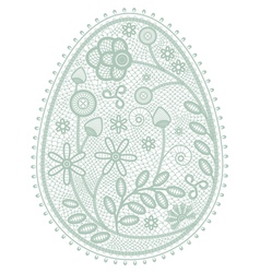 Lace Easter egg vector