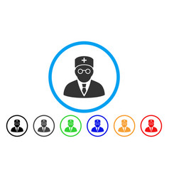 Main physician rounded icon vector