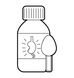 Medical syrup for kidney icon outline style vector