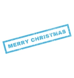 Merry Christmas Rubber Stamp vector