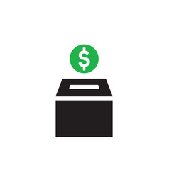 money box - concept icon design vector image