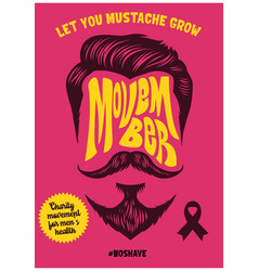 movember poster event design vector image
