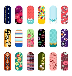 nail art set vector image vector image