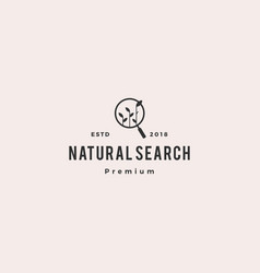 Organic seo sprout leaf search logo icon vector