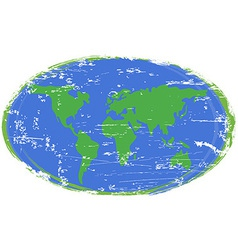 Painting earth vector image
