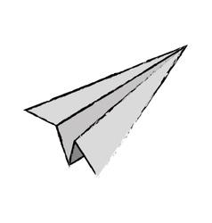 Paper plane origami vector image
