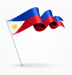 Philippines pin wavy flag vector
