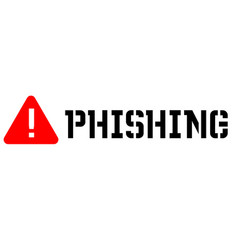 Phishing attention sign vector
