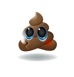 Pile of Poo emoji shit icon smiling face with vector