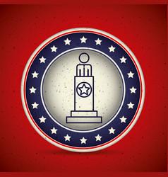 President inside button vote concept vector