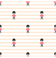 queen guardsman cute seamless striped vector image