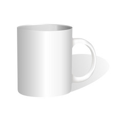 realistic classic white cup vector image