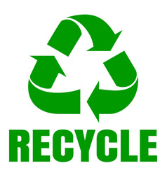 recycle green simbol sign of recycling waste vector image