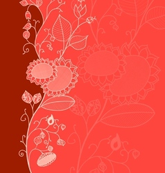 Red Flower Card vector image