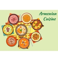 Rich and flavorful dishes of armenian cuisine icon vector