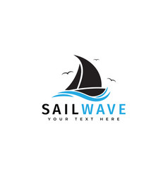 sail boat logo design template isolated vector image