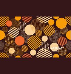 Seamless circle geometric modern pattern vector