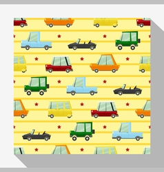 Seamless pattern collection with car 3 vector image