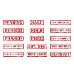 Set rubber stamps vector image