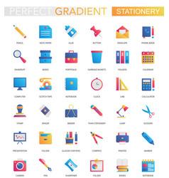 set trendy flat gradient office vector image