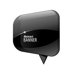 Shiny gloss blue 3d banner vector