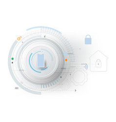 smart home technology controlling protection vector image