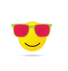 Smiley with sunglasses vector