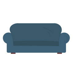 sofa and couch blue vector image
