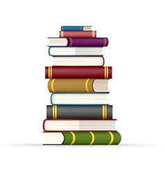 Stack of multi colored books vector