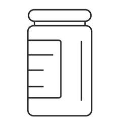 syringe bottle icon outline style vector image