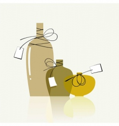 Transparent bottles vector