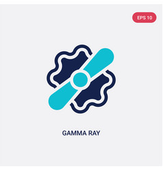 two color gamma ray icon from astronomy concept vector image