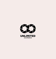 Unlimited camera logo design template vector
