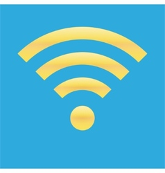 Wifi icon blue yellow color vector