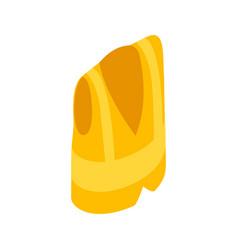Yellow vest icon isometric 3d style vector image