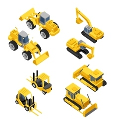 City construction Flat isometric transport icon vector image