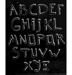 Hand Drawn Alphabet 02 A vector image vector image