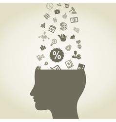 Idea business vector image vector image