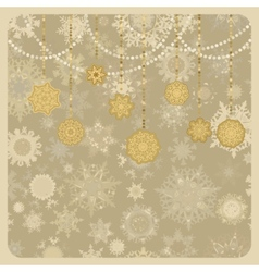 retro christmas new year vector image