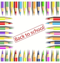 Set of Coloured pencils on white background vector image