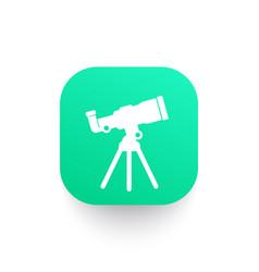 telescope astronomy icon vector image