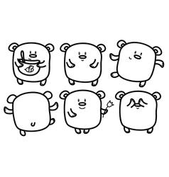 bears cute vector image vector image